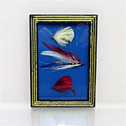 SALE Fly Fishing Flies Framed