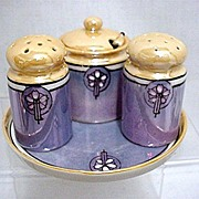 Condiment Set Lusterware Porcelain