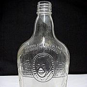 Whiskey Bottle Harry Wilken Embossed