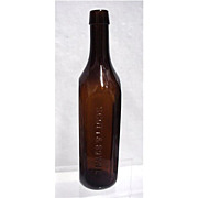 Amber Bottle Scott & Bowne New York Chemists