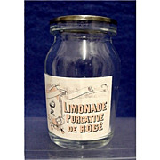 Limonade Purgative Drugstore or Pharmacy Bottle