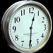 SALE Large Round Stromberg Wall Clock