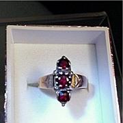 SALE Victorian Garnet Antique Ring Size 6 1/2