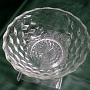SALE Glass Serving Bowl American Pressed Glass