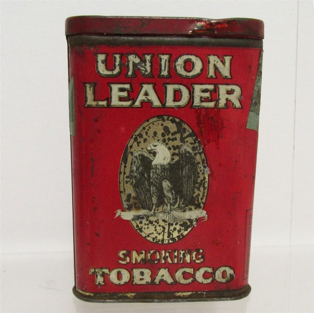 Union Leader Pocket Advertising Tobacco Tin