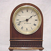 SALE Inlaid Desk or Mantel Clock  50% OFF