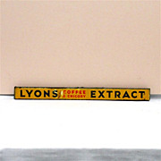 LYONS Coffee and Chicory Extract Tin Advertising Sign