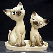 REDUCED Cats on Tray Salt and Pepper Shakers
