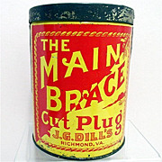 J. G. Dills Cylindrical Advertising Tobacco Tin 50% OFF