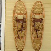 SALE Snowshoes Pair of Bentwood