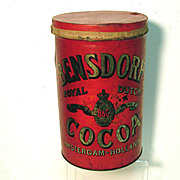 SALE Bensdorp's Royal Dutch Cocoa Soda Fountain  Tin Canister