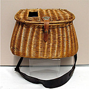 SALE Early Hand Woven Creel with  Shoulder Strap