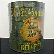 REDUCED Chase & Sanborn's Seal Brand Coffee Advertising Tin