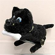 SALE Key Wind Scottie  Dog with a Bone Tin Toy WORKING