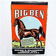 Big Ben Advertising Tobacco Pack Un-Opened