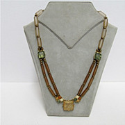 Necklace in Earth Tones  Choker Length