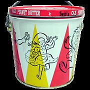 SALE OZ Peanut Butter Tin Pail with Lid