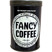 REDUCED Fancy Brand Coffee Advertising Tin