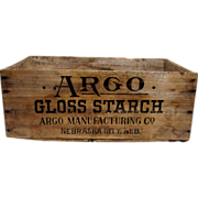 SALE Argo Starch Wood Advertising Box