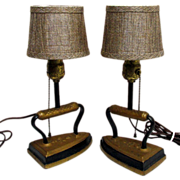 Sad Iron Lamps Matching Pair
