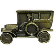 REDUCED Car Bank 1908 Cadillac Cast Metal