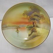 Noritake Dish with hand painted Scene