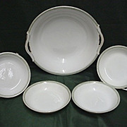Noritake Bowl and Four Serving Dishes