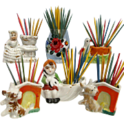 REDUCED Tooth Pick Holder   $10 each Six to Choose From Porcelain or Glass