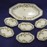 SALE Relish Set Nippon Porcelain Master Dish and Six Servings