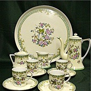Noritake Porcelain Demitasse Set  Complete with Tray