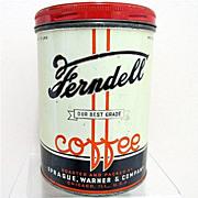 Advertising Coffee Tin Ferndell Chicago Ill.