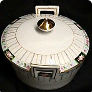 SALE Butter Dish Nippon Porcelain Art Nouveau Set is Complete