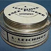 Theatrical Face Powder Leichner Advertising Tin