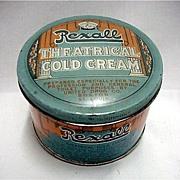 Rexall Theatrical Cold Cream Advertising Tin