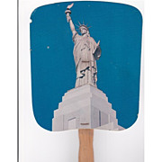 REDUCED Statue of Liberty Fan Advertising Liberty National Insurance Co.