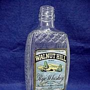 Glass Bottle with Raised Diamond Pattern