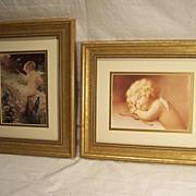 Pair of Framed Cupid Prints
