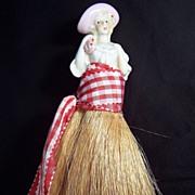 SALE Vintage Half Doll Whisk Broom