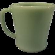 Vintage Fire King Jadite Mug - D handle