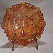 Carnival Glass--Lustre Rose Bowl