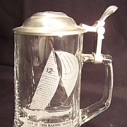 Glass Stein with Pewter top