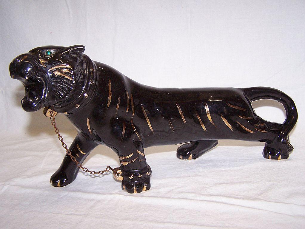 TV Ceramic Black Panther Statue