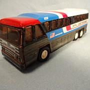 SALE Buddy L Tin Greyhound Americruiser Bus--1979