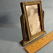 SALE Vintage Miniature Swivel Picture Frame