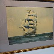 SALE Donald Mackay -Clipper Ship-  Print by Artist Gerald M. Burn