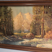 """""""Majestic Peaks"""" Framed Lithograph  Print by Artist Robert Woods"""