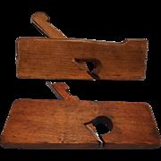 """SALE Skewed Wood Rabbet Plane, German, 1 1/4"""" --and--  Wood Rabbet Plane 7/8""""--Woodw"""