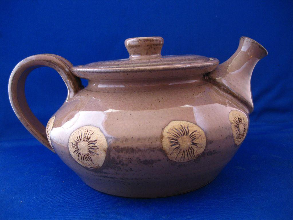 Unusual Pottery Teapot