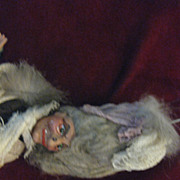 Vintage Witch Puppet