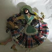 Vintage Cloth Souvenir Doll